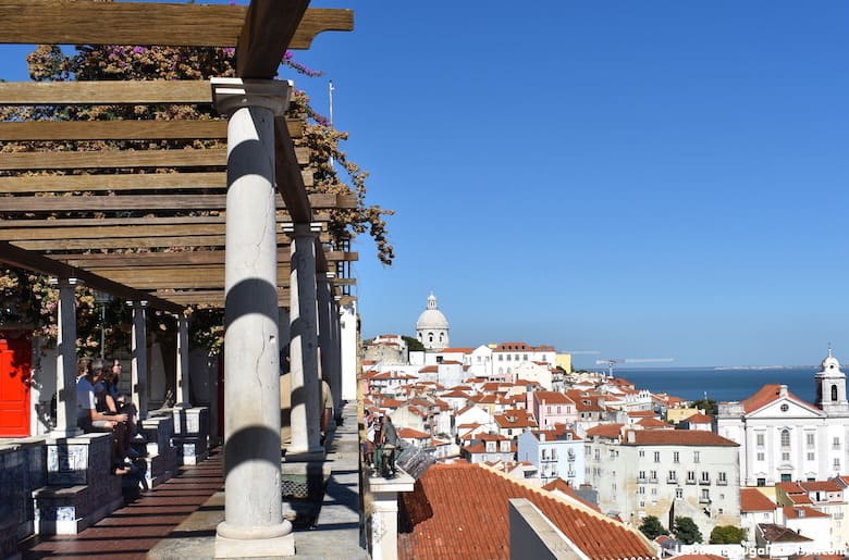 View of Alfama from the Santa Luzia viewpoint, Lisbon